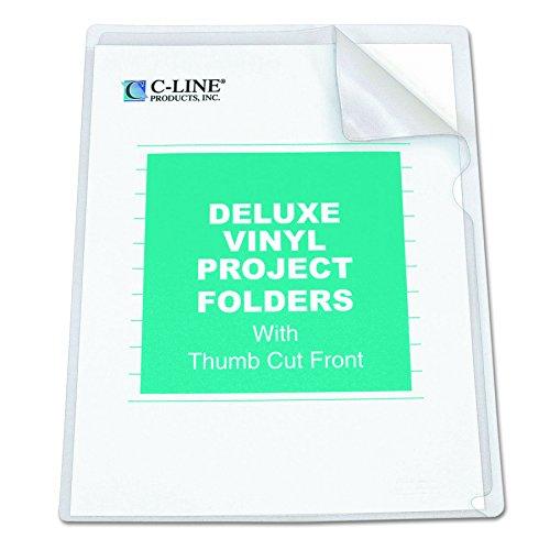 Letter Folder Project (C-Line Deluxe Super Heavyweight Non-Glare Vinyl Project Folders, Letter Size, Clear, 50 per Box (62138))