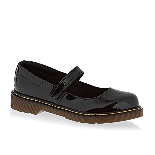 Dr. Martens Kid's Collection Girl's Maccy Mary Jane (Little Kid) Black Patent Lamper Flat 3 UK (4 US Big Kid) M -