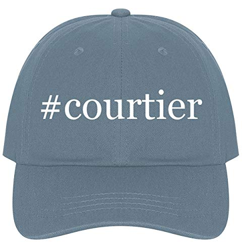 The Town Butler #Courtier - A Nice Comfortable Adjustable Hashtag Dad Hat Cap, Light Blue, One - Ring Elizabethan Classics