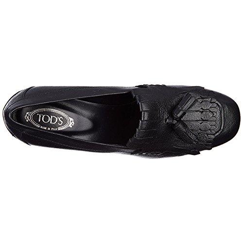 à Talon Femme Chaussures Noir t70 Escarpins Tod's en Cuir TxtzqnBS
