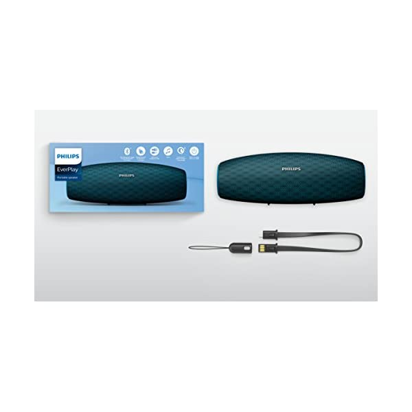 Philips Everplay BT7900A Enceinte Bluetooth Waterproof, Antichoc, avec Dragonne USB, 10h Autonomie, Bleu 6