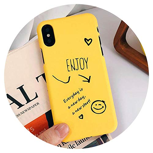 Cartoon Couples Phone Case for iPhone X Case for iPhone 6 6S 7 8 Plus Ultra Thin Hard PC Back Cover Funny Letter Cases Capa,Style 1,for iPhone 7