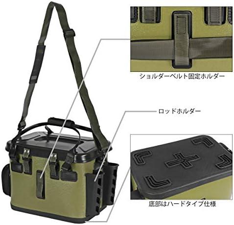 タカミヤ(TAKAMIYA) REALMETHOD EVAロッドホルダー付 ライトタックルバッグ アーミーグリーン 33cm