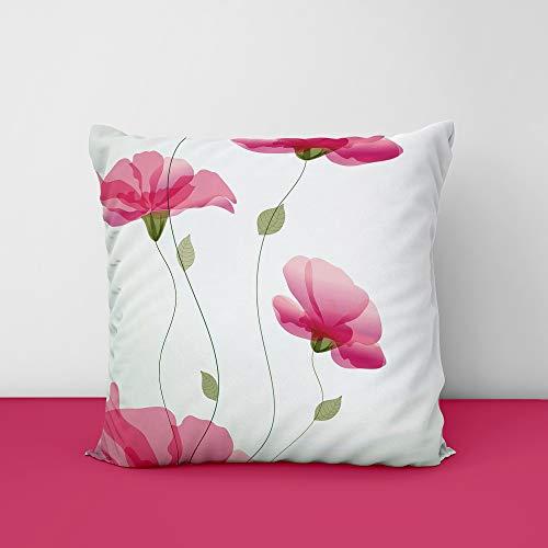 419CAOY2LOL Bush Pink Square Design Printed Cushion Cover