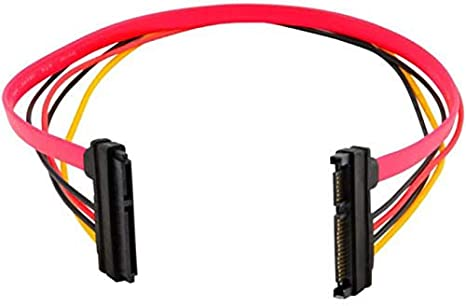 Cables Occus New 15+7 Pin SATA HDD Extension Cable Data /& Power Male to Female 50cm 18Apr30 Cable Length: 50cm