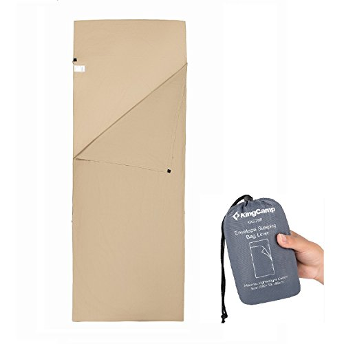 KingCamp Light Egyptian Cotton Envelop Sleeping Bag Liner ()