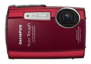 Olympus Stylus Tough 3000 12 MP Digital Camera with 3.6x Wide Angle Zoom and 2.7-inch LCD (Red) (Old Model)