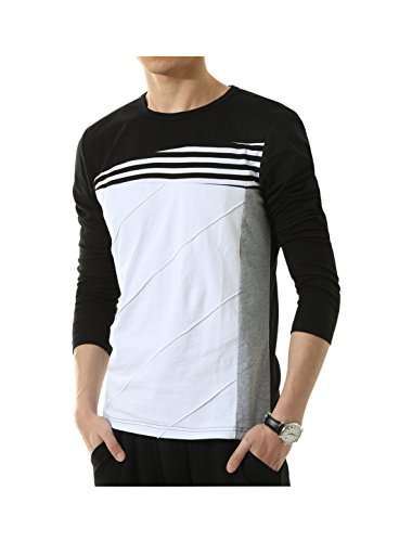 Allegra Color Block Stripes T Shirt