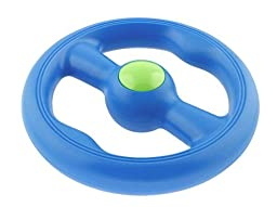 Large Floating Ring Flying Disc Floats on Water Tough Dog Chew Toy (Blue) by CYNJO