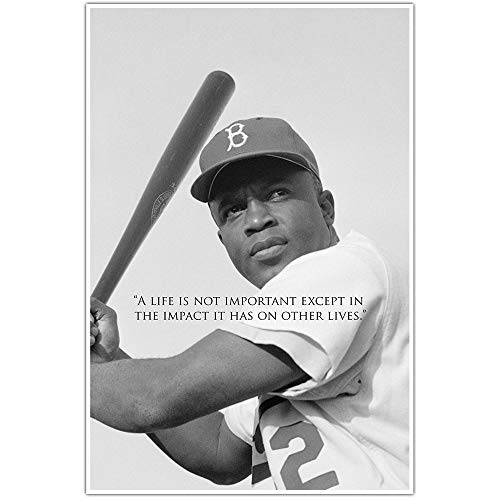 Jackie Robinson Motivation Quote Wall Art Poster
