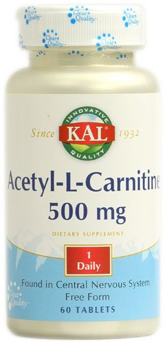 KAL Acetyl-L-Carnitine -- 500 mg - 60 Tablets - 3PC by Kal