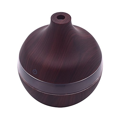 ❤SU&YU❤Humidifier,300ml Ultrasonic Humidifier Purifier LED Essential Oil Diffuser 7 Color Changing