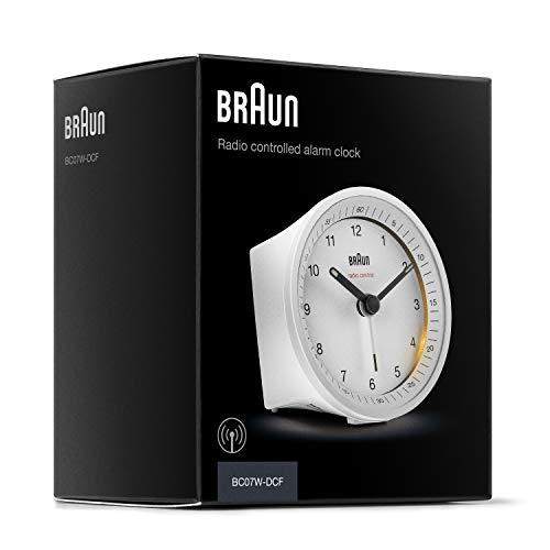 Braun Classic Radio Controlled Analogue Alarm Clock - BC07W-DCF (DCF/GMT+1)