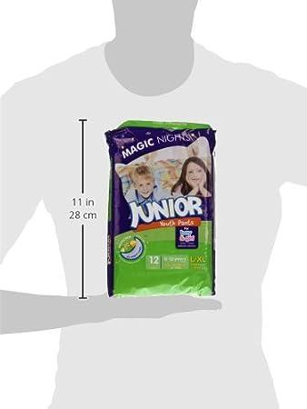Moltex Magic Nights Youth Pants Bolsa de Braguitas de Noche - 12 Braguitas - [pack de 2]: Amazon.es: Salud y cuidado personal