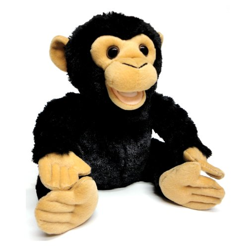 "Cuddle Barn ""Coco the Chimpanzee"" Animated Educational Press-Activated Talking Doll: Tells Interesting Facts About Chimpanzees"