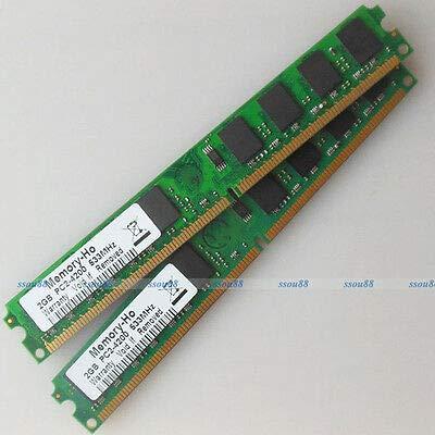 FidgetGear 4GB 2x2GB PC2-4200 DDR2-533 DDR2 533Mhz 240pin Desktop Memory Low Density RAM -