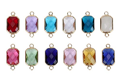 - 10pcs October Birthstone Charm Connectors 14mm Austrian Crystal Beads for Jewelry Craft Making CCP12-10