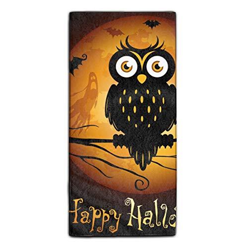 Halloween Owls Fingertip Towels Highly Absorbent Face Cloths