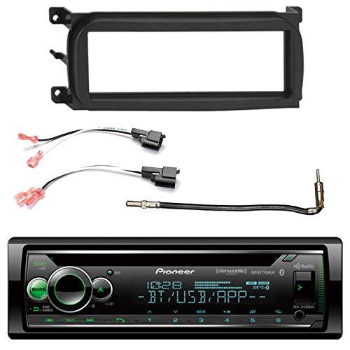 Pioneer Single-DIN CD Bluetooth HD AM/FM Radio Car Stereo, Enrock Single-DIN Dash Kit, Metra 2 Pin Rectangular Speaker Connector, Metra Antenna Adapter (Select 2001-2009 Vehicles)