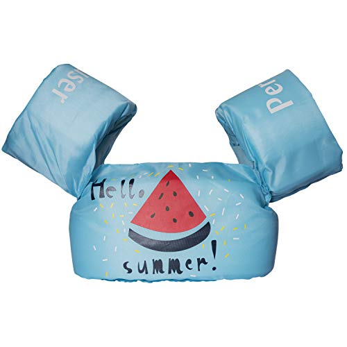 Peruser Toddler Life Jacket Baby Swim Float Kids Swim Life Vest/Kids Swimming Floats Vest for Kids-Flotation Device 30-50 lbs (Hello Summer)