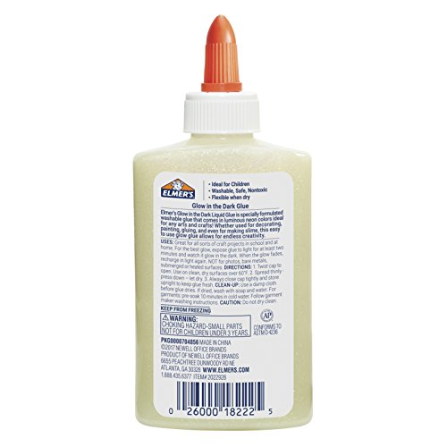 Elmer's Glow-in-the-Dark Liquid Glue, Washable, Natural, 5 Ounces, Great for Making Slime Photo #2