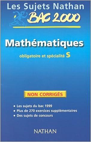 Téléchargements audio gratuits de livres Sujets non corrigés 99, mathématiques terminale S obl et spé PDF RTF DJVU 2091826871