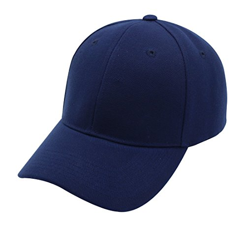 Baseball Cap Hat Men Women - Classic Adjustable Plain Blank, NAV Navy