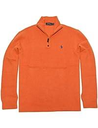 Men's Half Zip French Rib Cotton Sweater