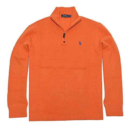Polo Ralph Lauren Mens French Ribbed Sweater (S, College Orange)