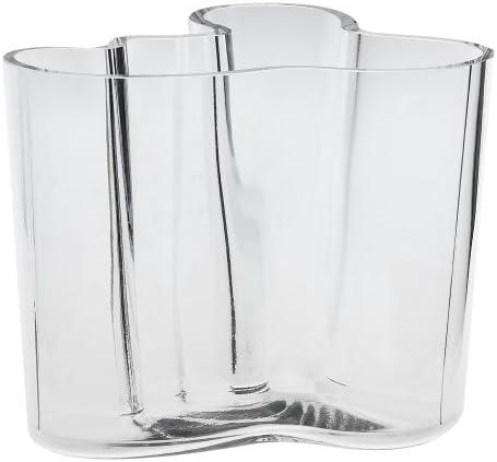 Iittala Aalto 4-3 4-Inch Clear Glass Vase
