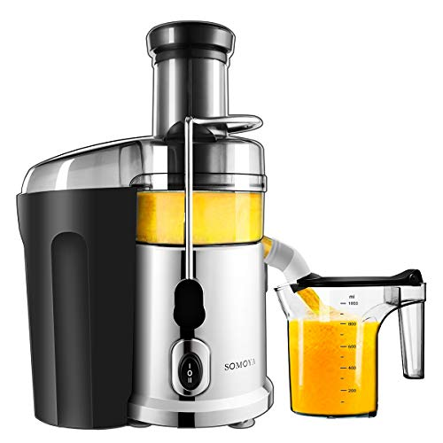 Juicer, SOMOYA 2019 Juice Extractor Easy to Clean, Centrifugal Juicer 700W High Speed Stainless Steel Juicer Machines Fresh Vegetables and Fruits Juicer(110V 60Hz) (The Best E Juice 2019)