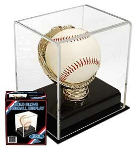 BCW Acrylic Gold Glove Baseball Display