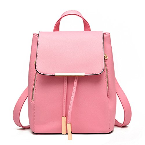 Pink Bag Casual Leather Purse Mini School KARRESLY Girls Shoulder Rucksack Ladies Women's Bag Backpack Purse for PU Oqazwx