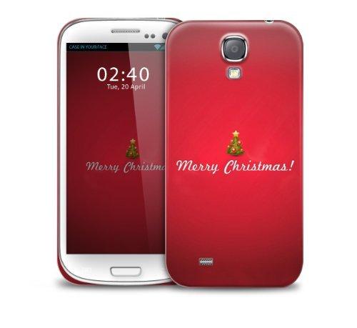 Navidad, Navidad, telŽfono protectora cubierta de la caja festiva rojo de pl‡stico Samsung Galaxy S3 GS3