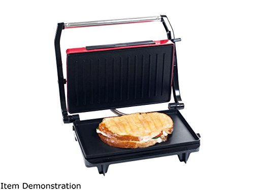 chef-buddy-82-sw100-red-non-stick-grill-and-panini-press
