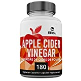 EBYSU Apple Cider Vinegar Capsules - 180 Count - Extra Strength Appetite Suppressant