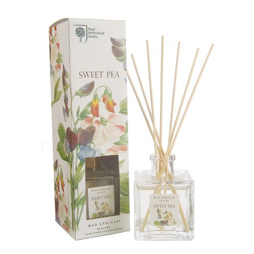 Wax Lyrical 200 ml Royal Horticultural Society Reed Diffuser, Sweet Pea by Wax Lyrical
