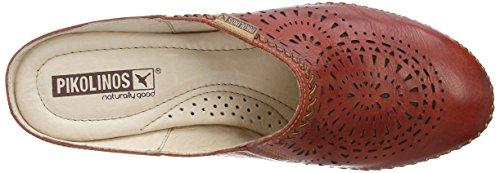 PIkolinos Bariloche 0576 - Zuecos de cuero para mujer rojo - Red (Sandia)