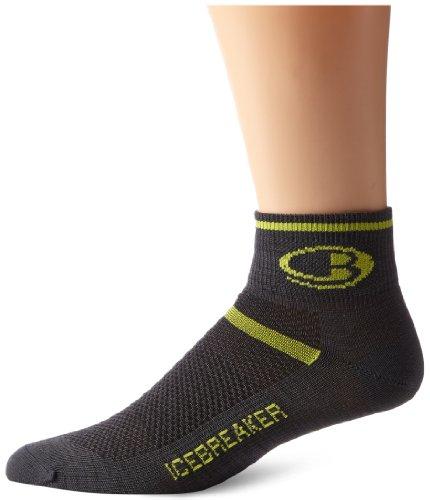 Icebreaker Men's Multisport Ultra Light Mini Socks, Oil/Volt, (Icebreaker Mini Socks)