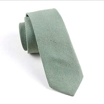 KYDCB Algodón para Hombre Corbata Sólida Corbata 6 CM Slim Corbata ...