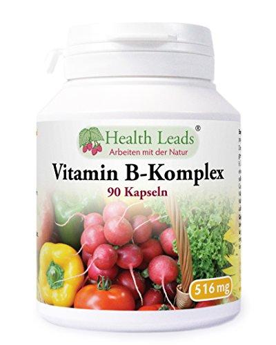 Vitamin B-Komplex x 90 Kapseln (Ohne Magnesiumstearat)