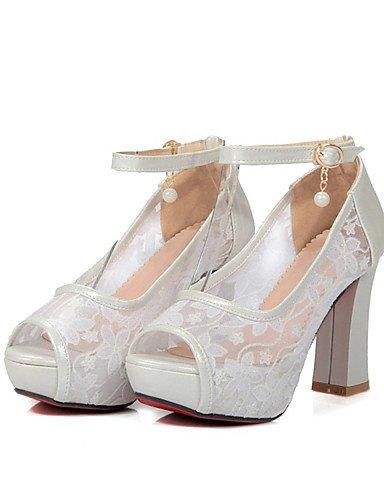 LFNLYX Zapatos de mujer-Tacón Robusto-Tacones / Punta Abierta / Comfort / Innovador / Botas a la Moda-Sandalias / Tacones-Boda / Oficina y beige