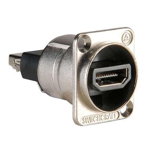 Switchcraft EHHDM12PKG HDMI Feedthru, Bagged with 4-40 Mounting Screws, Nickel Finish by Switchcraft
