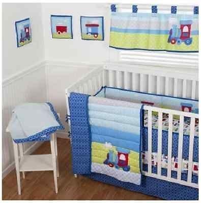 Sumersault 10 Piece Crib Bedding Set, Choo Choo by Sumersault   B00ZVF92HQ