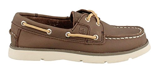 Kids Brown Shoes Dark Smooth (Sperry Boy's, Leeward Boat Shoe Dark Brown 1 M)