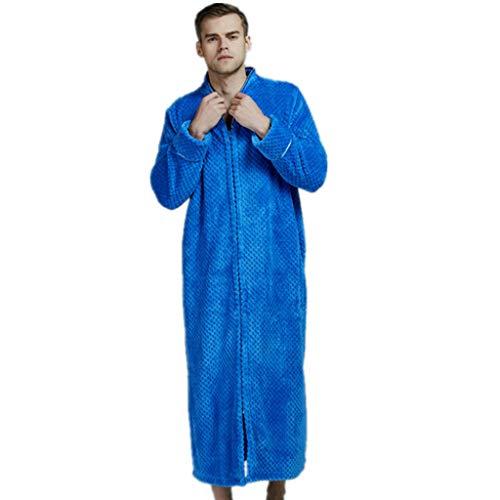 Bathrobe Men,Fleece Men Soft Tie Front Dressing Gown Robe Long Marks and Spencer Robe,Men