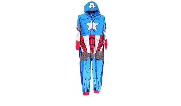 Pijama de una pieza, para hombre, Capitán América de Marvel, Los Vengadores (XL/XXL): Amazon.es: Ropa y accesorios