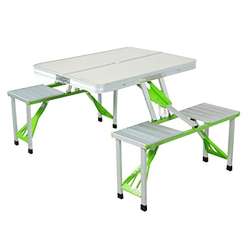 Lixada  Portable Aluminum Alloy Folding Table Chairs Set Outdoor Picnic Party Dining Camping 4 Person
