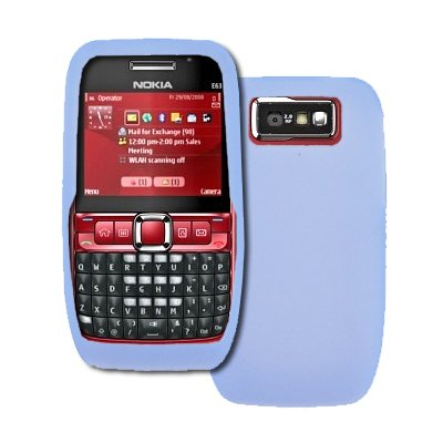 best loved d0320 a45ae Amazon.com: Blue Soft Silicone Gel Skin Cover Case for Nokia E63 [By ...
