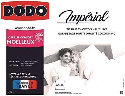 Dodo Oreiller Moelleux Imperial Blanc 60 x 60 cm